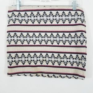 PacSun Nollie Boho Geometric Mini Skirt